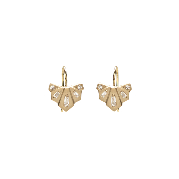 Michelle Fantaci Diamond Nomad Fan Drop Earrings