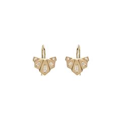 Diamond Nomad Fan Drop Earrings