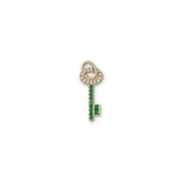 Michelle Fantaci Emerald Key Charm
