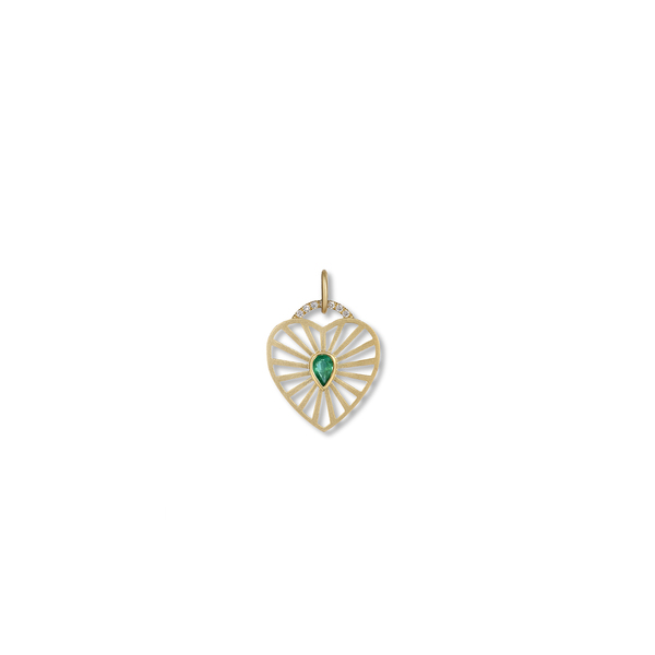 MICHELLE FANTACI Emerald Heart Charm