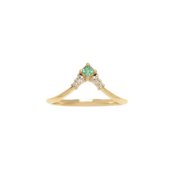 Michelle Fantaci Emerald Nomad Arrow Ring