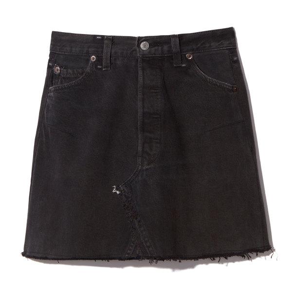 RE/DONE High-Waist Mini Skirt