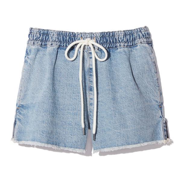 Bassike Raw Denim Pull-On Shorts