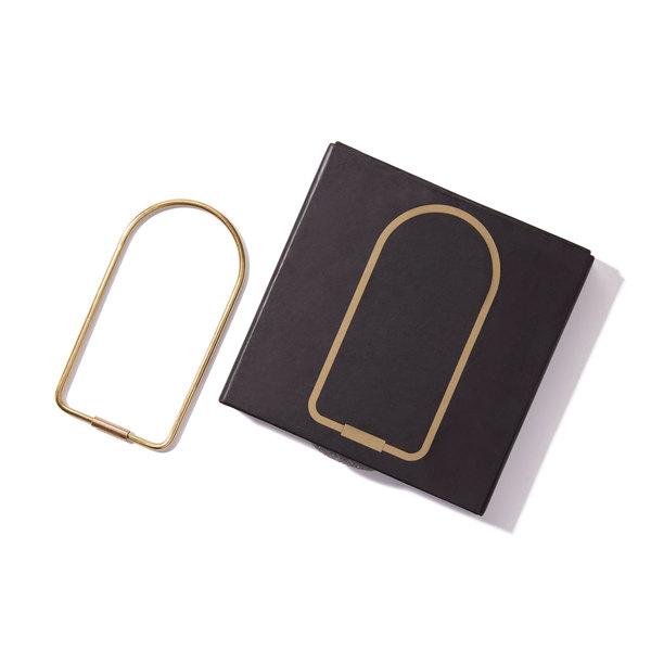 Areaware Brass Contour Key Ring
