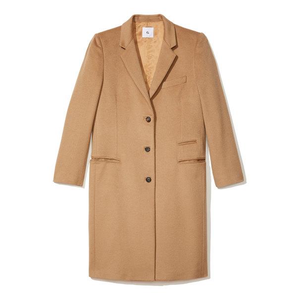 G. Label Gwyneth Camel Crombie Coat