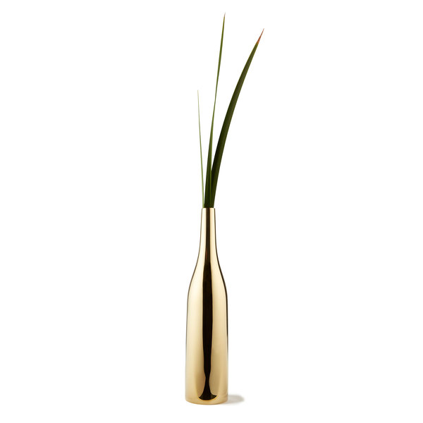 SKULTUNA Via Fondazza Slim Brass Vase