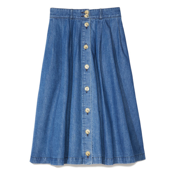 Warm Jeanie Denim Skirt