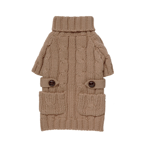 Fabdog Pocket Cable Knit