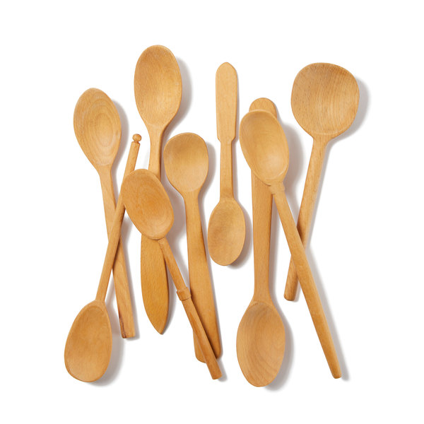 SIR MADAM  Baker's Dozen Hand-Carved Wood Spoons, Large
