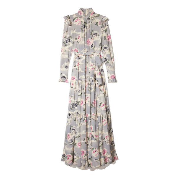Co Printed Silk Maxi Dress