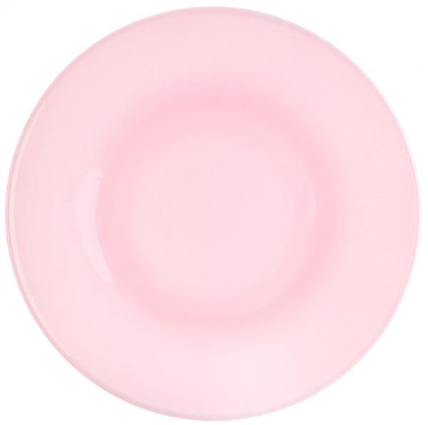 MOSSER GLASS Pink Glass Dessert Plates, Set of 4