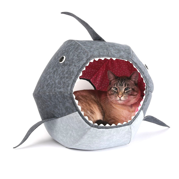 The Cat Ball Great White Shark Cat Bed