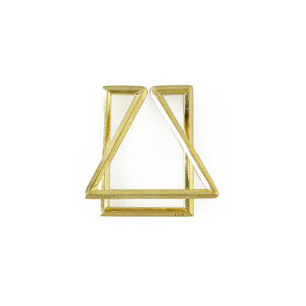SIN House Brass Money Clip