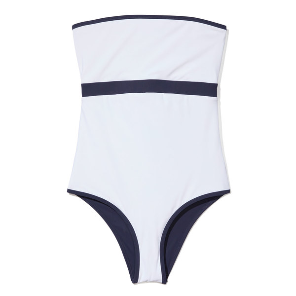 Heidi Klein Reversible Bandeau One-Piece