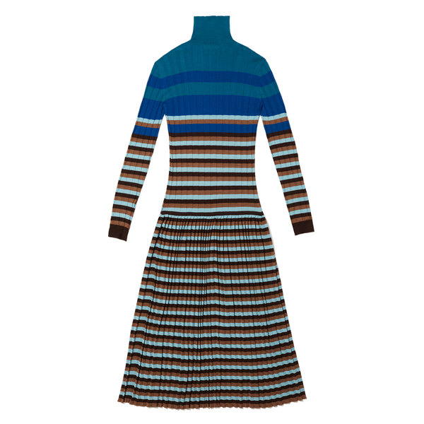Marni Striped Turtleneck Dress