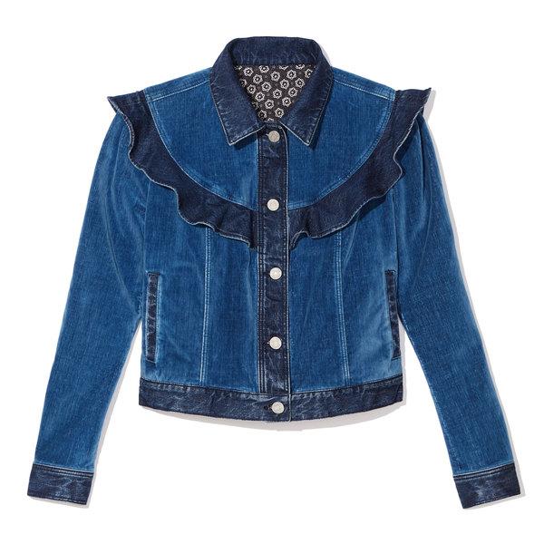 Rebecca Taylor La Vie Velvet Denim Jacket