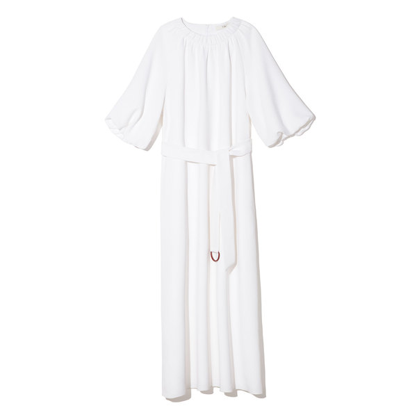 Tibi Shirred Neck Dress