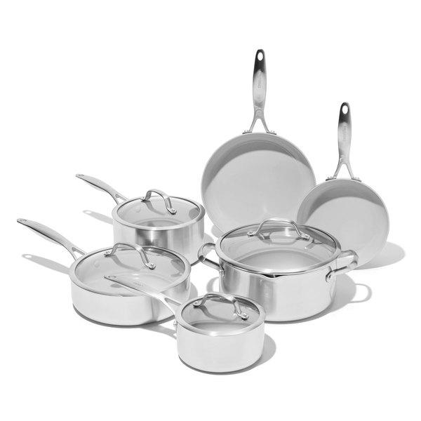 GreenPan Venice Pro Ceramic Nonstick Cookware, 10-Piece Set