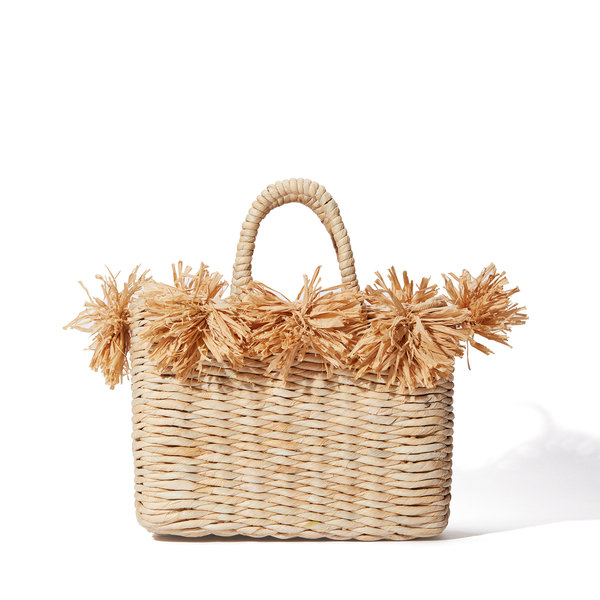 Indego Africa Vio Palm Pom Structured Tote