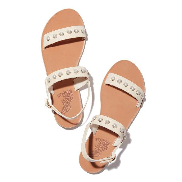 Ancient Greek Sandals Clio Pearl Sandals