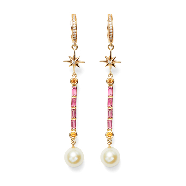 Marlo Laz Pearl Wand Earrings