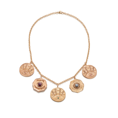 Talisman 5 Coin Necklace