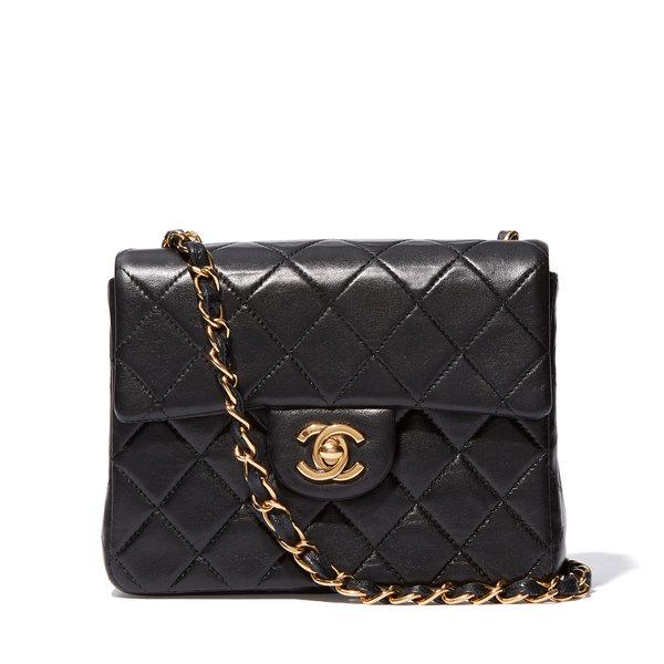 What Goes Around Comes Around Mini Black Chanel Handbag