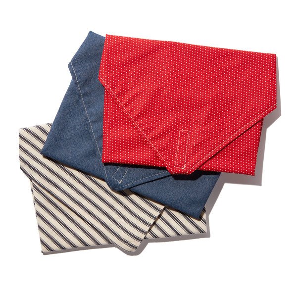 Dot and Army  Cotton Sandwich Wrap, Set of 3