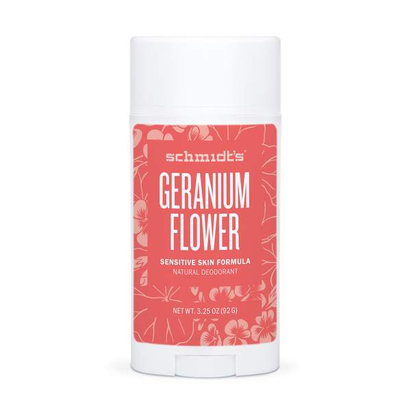 Schmidt's Geranium Flower Sensitive Skin Deodorant Stick