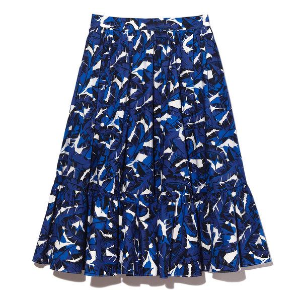 MSGM Poplin Floral Skirt