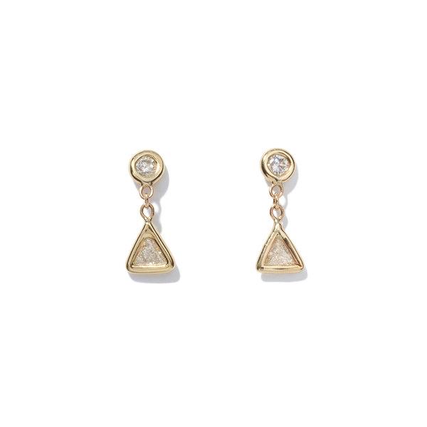 JACQUIE AICHE Trillion Diamond Drop Studs