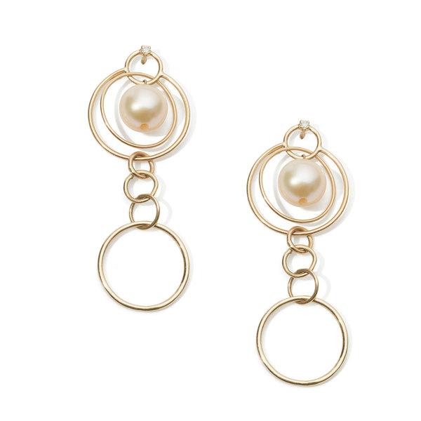 Loren Stewart Pearl Orbit Drop Earrings