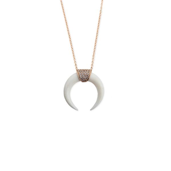 Jacquie Aiche Double Bone Horn Necklace