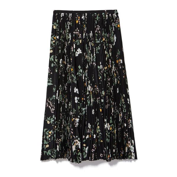 Rochas Menta Silk Floral Skirt