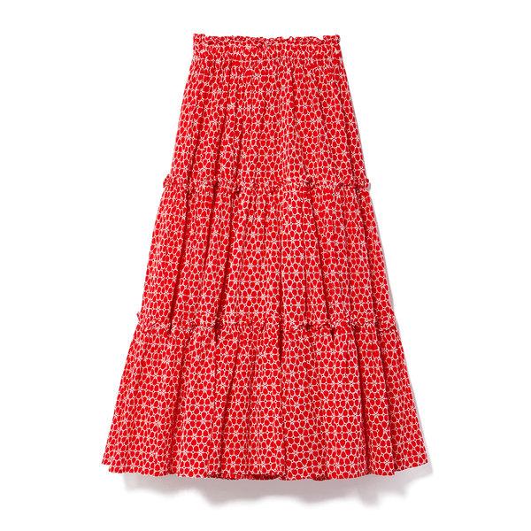 Lisa Marie Fernandez Ruffle Peasant Eyelet Skirt