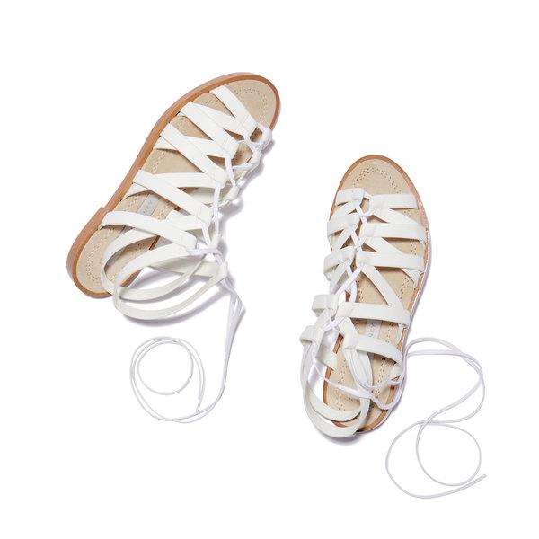 Stella McCartney White Flat Sandals