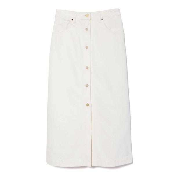 Goldsign Button Front Denim Skirt