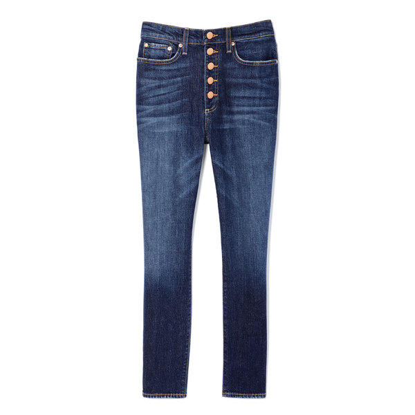 AO.LA by alice + olivia Good High-Rise Button-Fly Jeans
