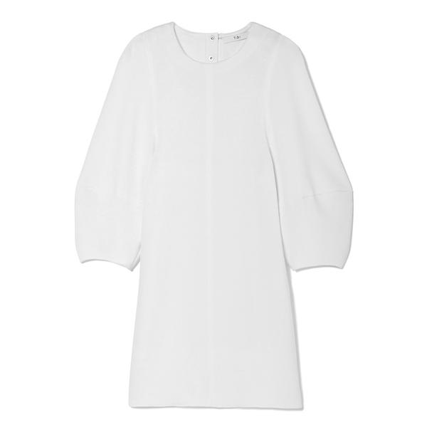 Tibi Balloon-Sleeve Mini Dress