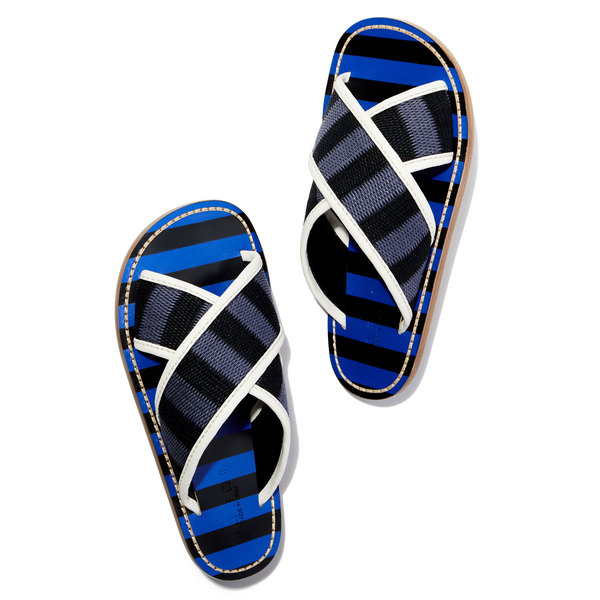 Marni Striped Slide Sandals