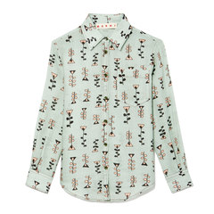 Button-Down Printed Blouse