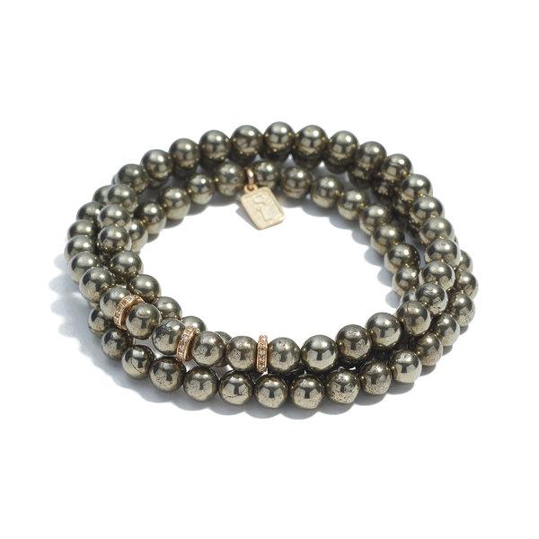Sheryl Lowe Pyrite Wrap Bracelet