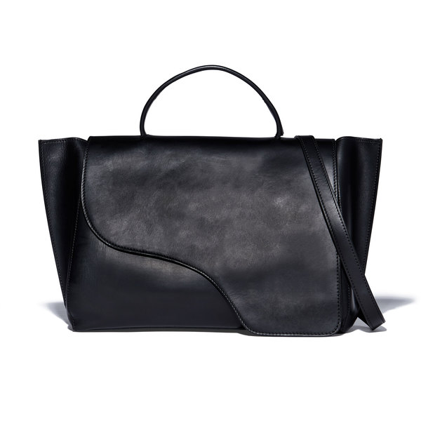 ATP Atelier Volterra Black Leather Handbag