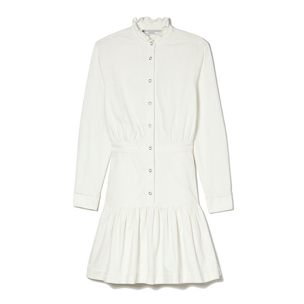 Stella McCartney White High-Neck Dress