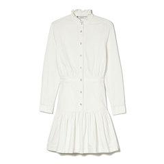 White High-Neck Dress