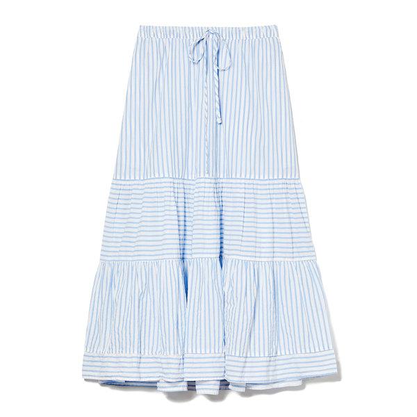 Xirena Malone Striped Cotton Skirt