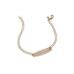 Diamond ID Yellow-Gold Bracelet