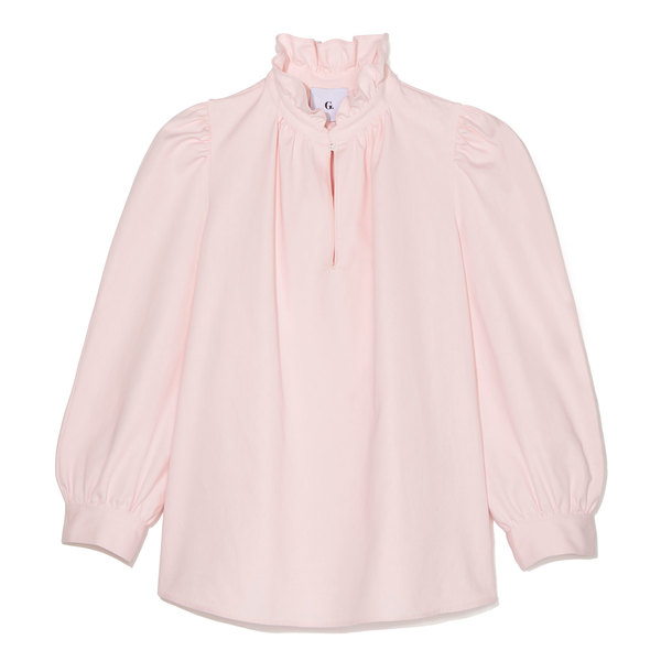 G. Label Erin Ruffle-Neck Blouse
