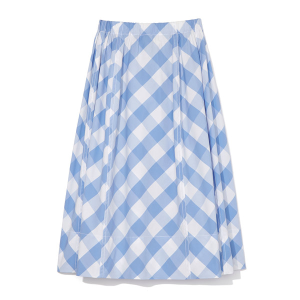 Marni Gingham Cotton Skirt