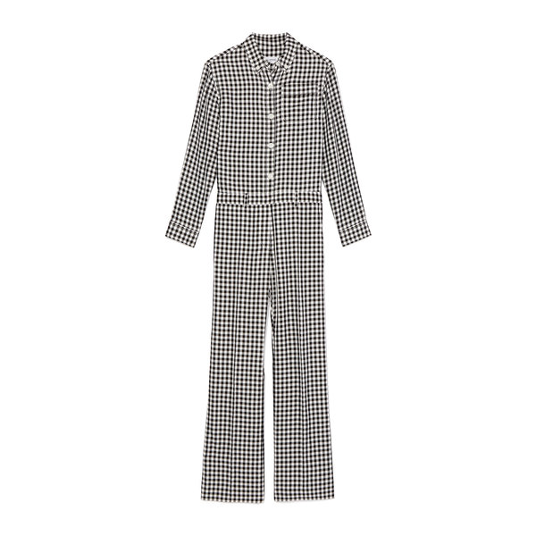 Sonia Rykiel Combination Checked Jumpsuit